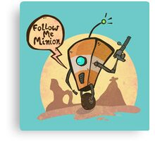 Follow me minion Canvas Print