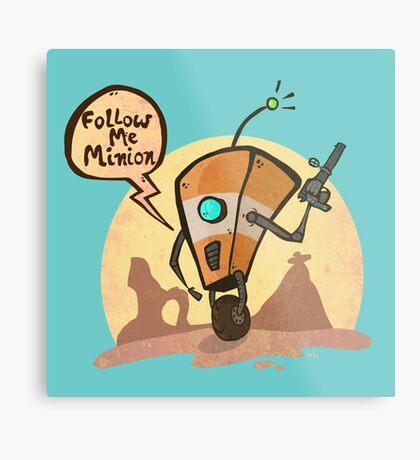 Follow me minion Metal Print