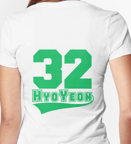 HyoYeon - 32 Womens Fitted T-Shirt
