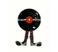 Funny Vinyl Records Lover - Grunge Vinyl Record Notebooks and more Art Print