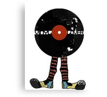 Funny Vinyl Records Lover - Grunge Vinyl Record Notebooks and more Canvas Print