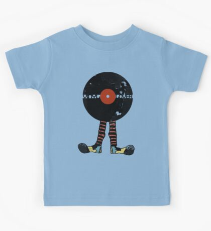 Funny Vinyl Records Lover - Grunge Vinyl Record Kids Tee