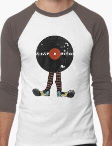 Funny Vinyl Records Lover - Grunge Vinyl Record Notebooks and more Men's Baseball ¾ T-Shirt