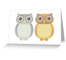 Cool Owl & Friendly Owl Greeting Card