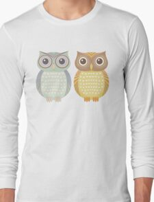 Cool Owl & Friendly Owl Long Sleeve T-Shirt