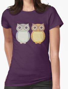Cool Owl & Friendly Owl Womens Fitted T-Shirt