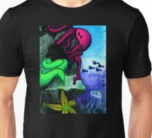 Eel, Octopus and Jellyfish Under the Sea Unisex T-Shirt