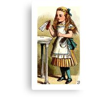 Alice About to Drink the Potion Canvas Print