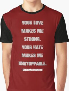 Cristiano Ronaldo Quote Graphic T-Shirt