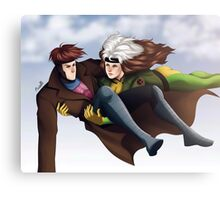 Rogue & Gambit Canvas Print