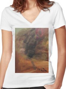 Shai Hulud, Worm That Is God Women's Fitted V-Neck T-Shirt