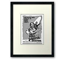 STAG MODEL SLAUGHTER B MOVIE Framed Print