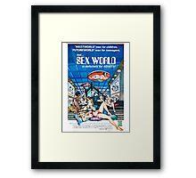 SEX WORLD B MOVIE Framed Print