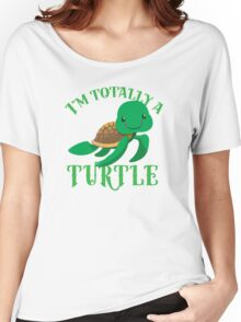 I'm totally a TURTLE Women's Relaxed Fit T-Shirt