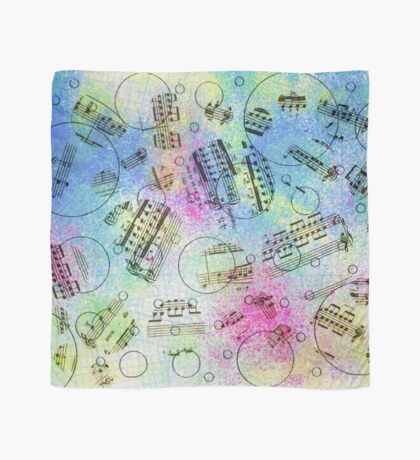 Watercolor Musical Notes Scarf