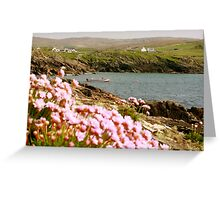 Malinmore Pier, Glencolmcille, Co. Donegal  Greeting Card