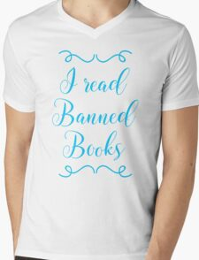 I read banned books Mens V-Neck T-Shirt