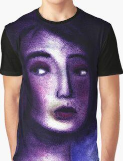 Purple Portrait Graphic T-Shirt