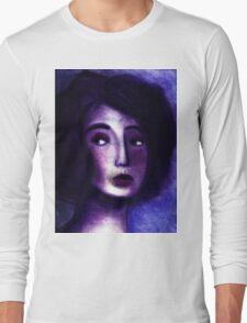 Purple Portrait Long Sleeve T-Shirt