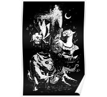 The Children of the Night - Black & White Poster