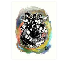 Tribute to Hayao Miyazaki (COLOUR) Art Print
