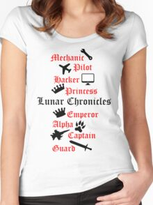 Lunar Chronicle characters Women's Fitted Scoop T-Shirt