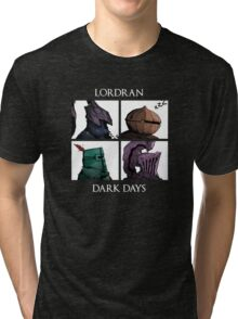 Lordran-Dark Days Tri-blend T-Shirt
