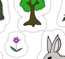 Nature Diorama Stickers  Sticker