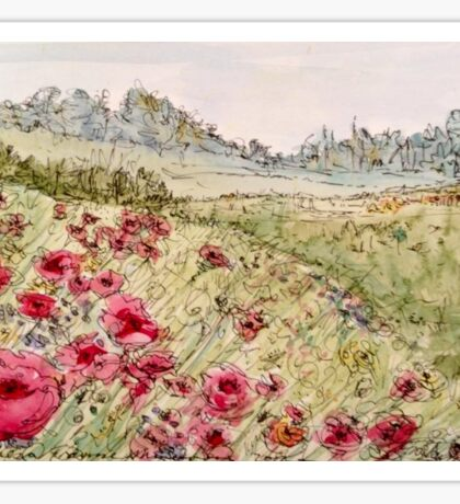 Remembrance, Flanders Field Poppies Sticker