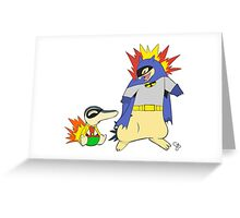 Batman Pokemon Mashup Greeting Card