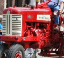 Red Tractor on Parade Sticker