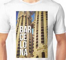 BARCELONA SAGRADA FAMILIA GAUDI ARCHITECTURE PHOTOGRAPHY Unisex T-Shirt