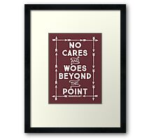 No Cares And Woes Framed Print