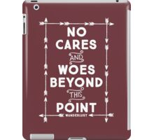 No Cares And Woes iPad Case/Skin