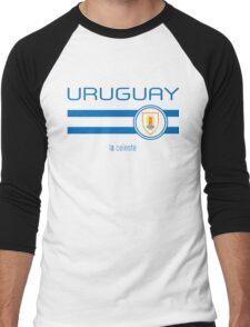Copa America 2016 - Uruguay (Away White) Men's Baseball ¾ T-Shirt