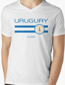 Copa America 2016 - Uruguay (Away White) Mens V-Neck T-Shirt