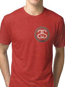 Stussy Logo Golden  Tri-blend T-Shirt