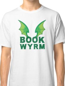 BOOK WYRM (bookworm) Dragon wings Classic T-Shirt