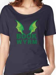 BOOK WYRM (bookworm) Dragon wings Women's Relaxed Fit T-Shirt