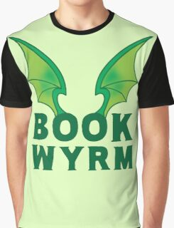 BOOK WYRM (bookworm) Dragon wings Graphic T-Shirt