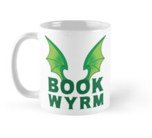 BOOK WYRM (bookworm) Dragon wings Mug