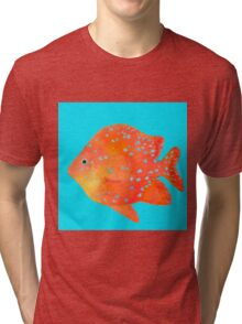Spotted Tropical Fish painting Tri-blend T-Shirt