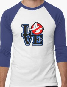 Love Park Ghostbusters Men's Baseball ¾ T-Shirt