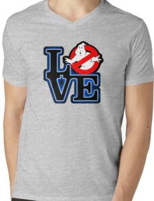 Love Park Ghostbusters Mens V-Neck T-Shirt