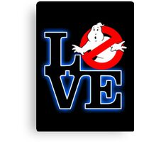 Love Park Ghostbusters Canvas Print