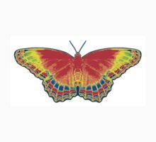 Colorful Butterfly - Red One Piece - Long Sleeve
