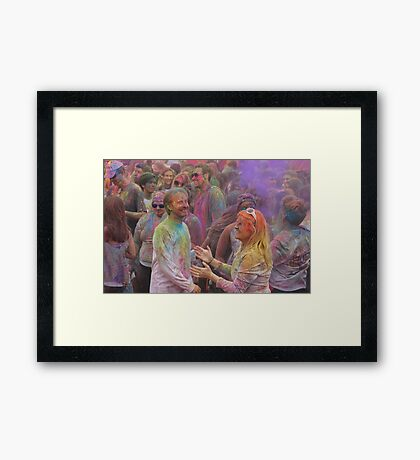 HOLI, Indian Festival of Colour, in San Diego County 2016  Framed Print