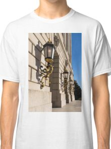 Light and Shadow - Antique Gilded Lanterns on a Washington, DC Facade Classic T-Shirt