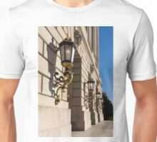 Light and Shadow - Antique Gilded Lanterns on a Washington, DC Facade Unisex T-Shirt