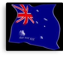Australian flag concept on black Canvas Print